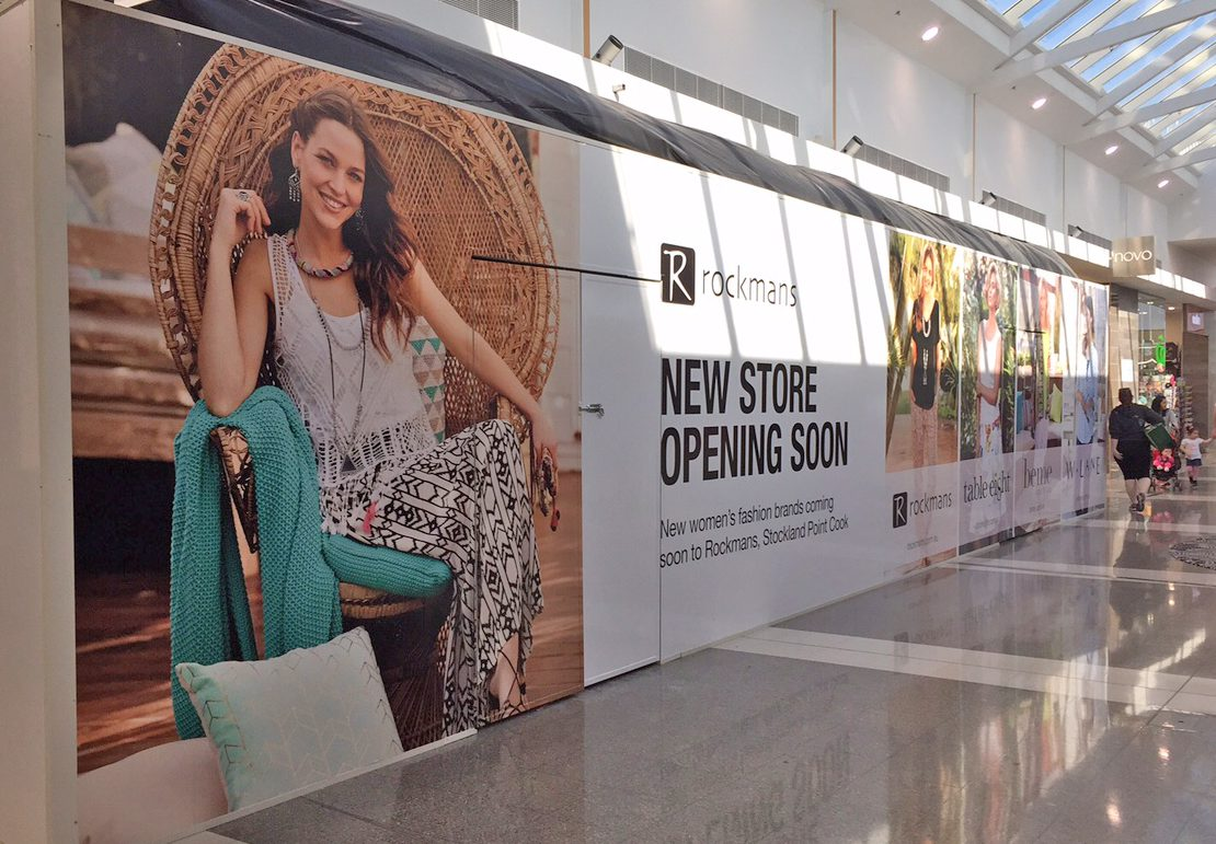 Printed retail shop hoardings Australia Shop Hoardings