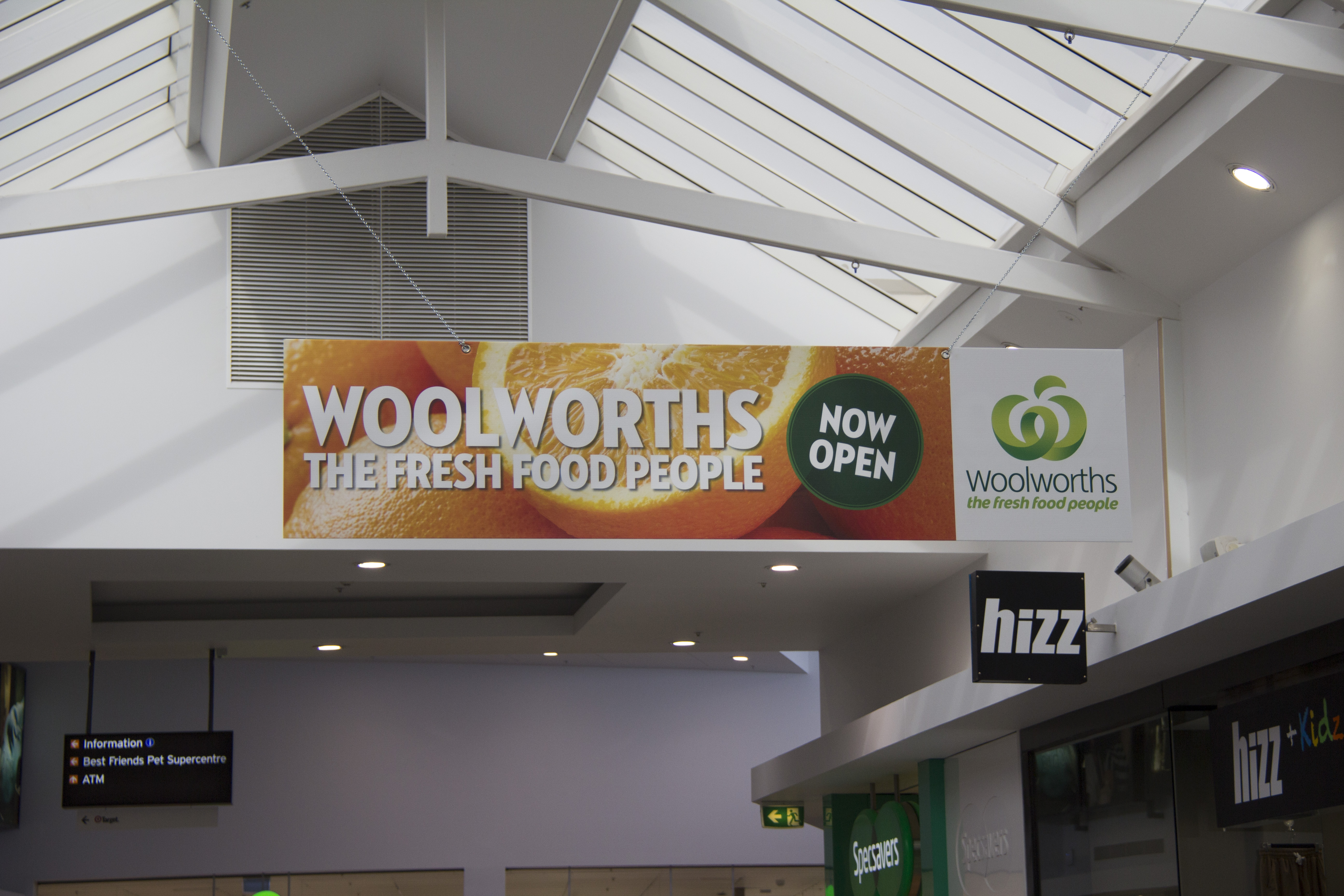 Corflute printed signs for Woolworths