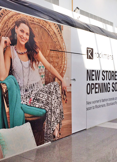 Shop, Mall or Shopping Centre Hoardings