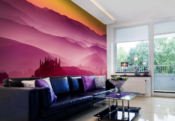 Interior Decor & Interior Design Ideas ... bring interior space to life with printed roller blinds & wallpapers