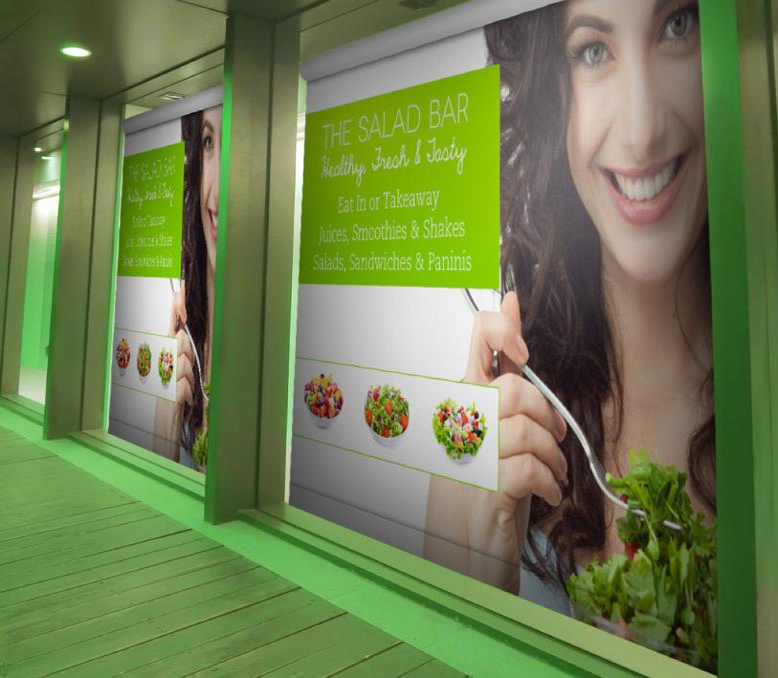 Custom printed promotional window blinds are a unique and clever way to attract the attention of pedestrians and passing traffic.