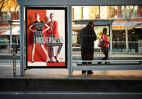 Outdoor advertising light boxes design, print & installation