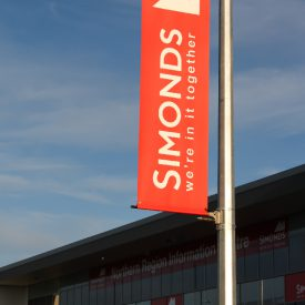 Simmond Homes use our Bannersaver light pole banner brackets