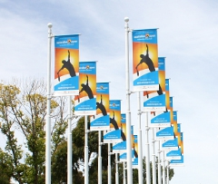 Ourdoor Light Pole Banners & Banner Brackets for the Australian Open Tennis