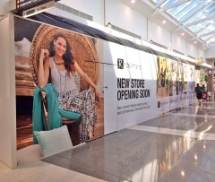 Banners and printed site retail shop & shopping centre hoardings