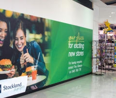 Shop Hoardings at Stockland Shopping Centre. Banners & Hoardings Printed.
