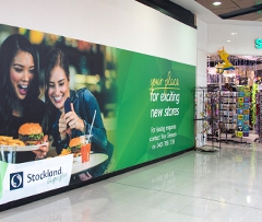 Shop hoardings designed, printed & installed